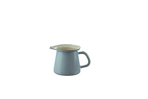 münder émail - Petit pot, pot, pot à lait, POT A LAIT - couleur:bleu clair - 0,7 litre - émail