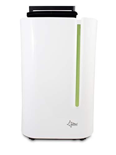 SUNTEC Dryfix Lumio 20 Luftentfeuchter - für Räume bis 150 M³ ( ca 65 m2 ) | Raumentfeuchter mit 20 l / Tag Entfeuchtung | Entfeuchter elektrisch inkl. Luftreiniger Funktion + mobile Wäschetrocknung