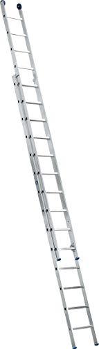 ILLER-LEITER Geis&Knoblauch Schiebeleiter o.Seil 2-tlg 58018 2x18 Stufen Sprossenleiter 4039665012314
