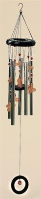 Klangspiel 5 Klangröhren 90cm Windspiel Schmetterling Blume Mobile
