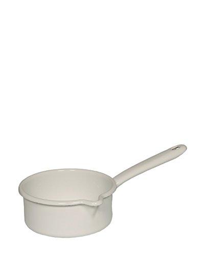 RIESS Stielkasserolle mit großem Ausguss, Kasserolle, Ø 14 cm, 3/4 l, weiß