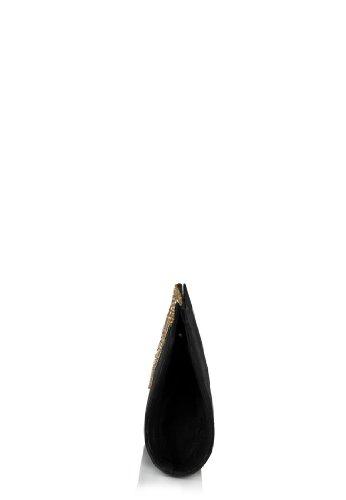 Spice Art da donna ricamato frizione Black