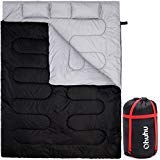 Ohuhu Double Sleeping Bag with 2 Pillows, Waterproof Lightweight 2 Person Adults Sleeping