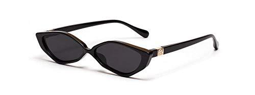 Kuletieas dreieck cat eye sonnenbrille frauen retro vintage 2019 vintage kleine sonnenbrille für männer weiß schwarz leopard uv400 @ full black