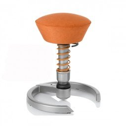 SWOPPER CLASSIC 3D-Aktiv-Bürostuhl Hocker Sitzpolster Normal, Farbe terracotta, Fussring mit Filzgleiter, Feder MEDIUM, Basis Titan, Federfarbe terracotta