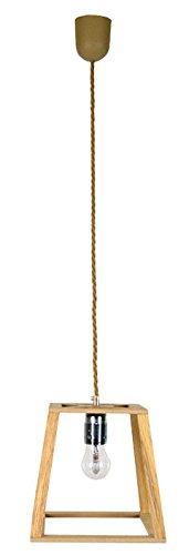 GALLIS 0991064531 Wood Tetragon Mini Suspension Bois 60 W Marron 25 x 20cm