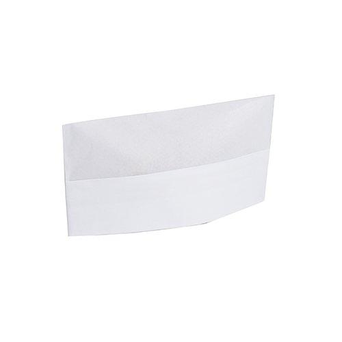 Royal Plain White Disposable Overseas Caps, Case of 1000 (Beanie Stripe White)