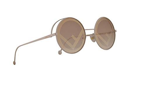 Fendi FF0343/S Sonnenbrille Weiße Mit Braunen Golden Gläsern 53mm VK6EB FF0343S FF 0343/S