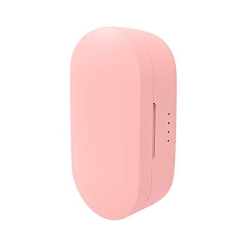 Mini-Bluetooth-Kopfhörer Leichter drahtloser Stereo-Ohrhörer mit Ladekasten für Handy Sport Ohrhörer,TWS BT5.0 Kabelloser Ohrhörer HiFi Stereo Call Kopfhörer (Pink) (Mini Tablet Ich)
