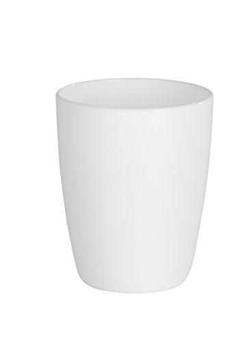 Wenko 21956100 Cocktail Gobelet à Dents Plastique Blanc 8,8 x 8,0 x 10,2 cm