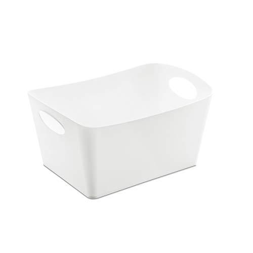 Koziol Aufbewahrungsbox 1 L Boxxx S, Kunststoff, solid weiß, 12.8 x 18.7x 10.8 cm