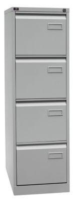 Bisley LIGHT Hängeregistraturschrank, Einbahnig, Din A4, 4 HR-Schubladen, 100 Prozent Schubladenauszug, Metall, 645 Lichtgrau, 62.2 x 41.3 x 132.1 cm