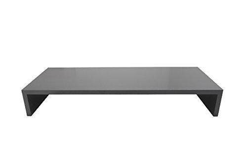Gewicht Der Einheit Holz (Hermesmöbel Monitortisch SAUERLAND (TFTHS90) B/T/H 90 x 30 x 12 cm schwarz glänzend)