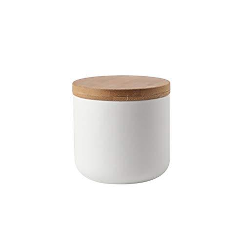 BESTONZON Keramikglas Siegelkanister Lebensmittel Vorratsbehälter mit Holzdeckel für lose Tee...