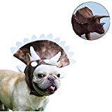 Triceratops Hundekostüm Halloween Dinosaurier Haustier Kopfbedeckung Hut Cosplay Kostüm