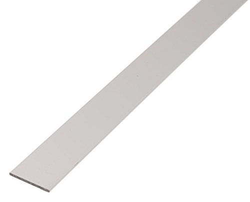 GAH-Alberts 473013 Flachstange - Aluminium, silberfarbig eloxiert, 1000 x 15 x 2 mm