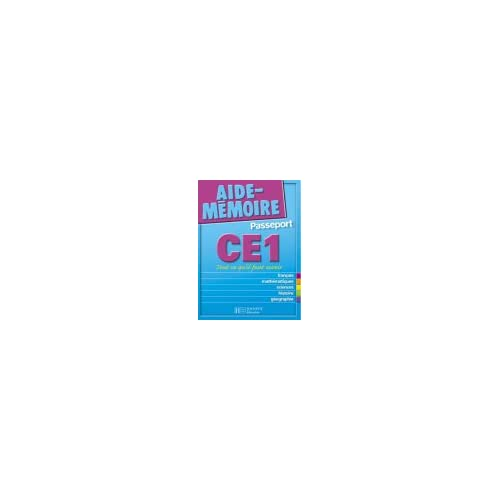 Aide-Mémoire Passeport : CE1 - 7-8 ans