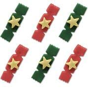 Anniversary House Red & Green Cracker Sugarcraft Toppers - 6 Pack Anniversary House Ltd