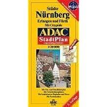 ADAC Stadtpläne, spezialgefaltet, Nürnberg, Erlangen und Fürth