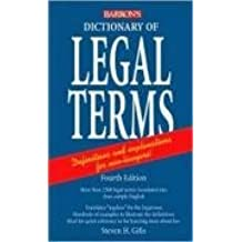 Dictionary of Legal Terms by Steven H. Gifis (2008-05-01)