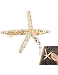 Sun Run elegante fermacapelli in metallo a forma di stella marina speciale per chi ama il mare. Fermacapelli per donna ragazza bambina