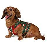 ver, weihnachtlicher Weihnachtspullover, für Hunde, süße Weihnachten, mit Weihnachtsmann- und Lebkuchenmotiv, Größe XL ()
