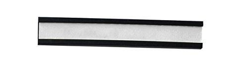 Legamaster 7-450100 Magnetische Etikettenträger für Whiteboards, 72 Stück, 10 x 60 mm, schwarz