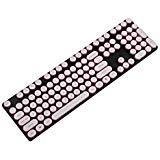 108 Tasten Schreibmaschine ABS Keycap Set Weiß Schwarz Pink Blau Gold Rand für MX Schalter Mechanische Tastatur White with Pink Rim Pink Rim
