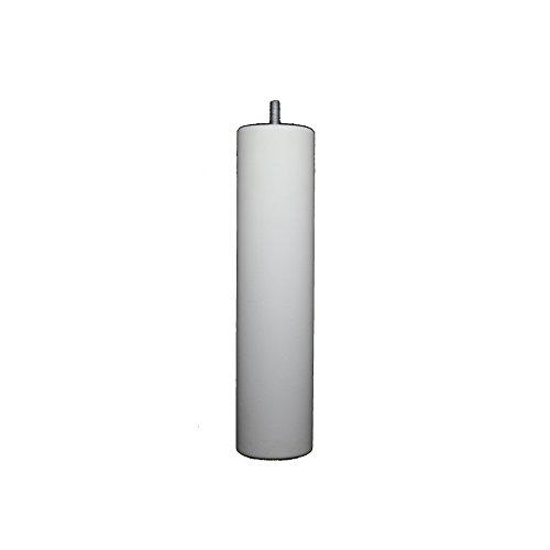La Fabrique de Pieds Jeu de 4 Pieds de Lit Bois, Laqué Blanc, 25 x 6 x 6 cm