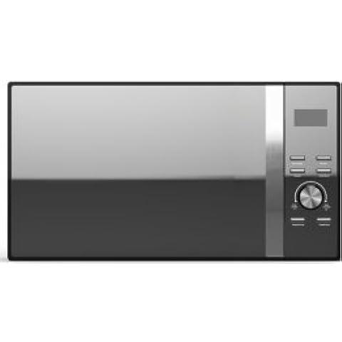 Ito Microondas Digital con Grill 28L y aire caliente negro LED/900–1300W 60min Tiempo regulador Defrost