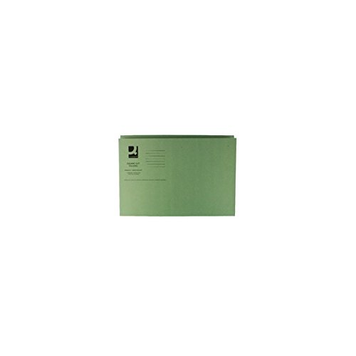 q-connect-square-cut-folder-medium-weight-foolscap-kf01189-250-g-green-pack-of-100