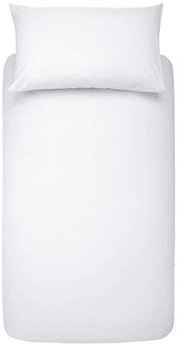 AmazonBasics Bettwäsche-Set, Mikrofaser, 135 x 200 cm - Weiß