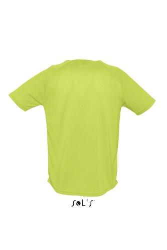 Sols - Maglietta sportiva - Collo a U  - Opaco -  uomo Verde mela