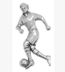 Gift Boxed Pewter Footballer Badge pin or Brooch Gift for Scarf, Tie, Hat, Coat or Bag