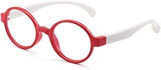 Jm occhiali luce blu per bambini occhiale da vista anti-affaticamento degli occhi computer portatili tv video gaming ragazzi ragazze cornice rossa gamba bianca