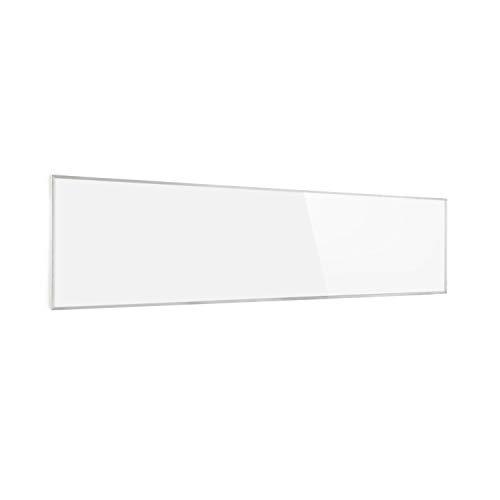 Klarstein Wonderwall Air 36 Infrarotheizung, 120 x 30 cm, 360 W, Carbon Crystal Infrared, IR ComfortHeat, ZeroNoise, OpenWindow Detection, ideal für Allergiker, Thermostat, weiß