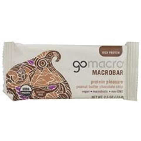 Go Macro Macrobar Protein Pleasure Peanut Butter Chocolate Chip -- 2.5 oz by GoMacro