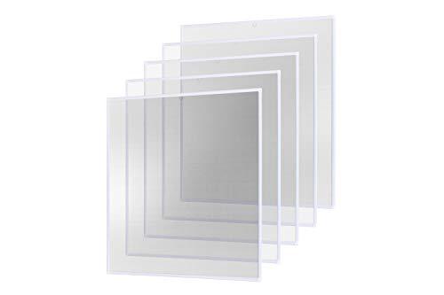 Insektenschutz Fliegengitter Fenster Alurahmen Basic weiß braun anthrazit, 120 x 140 cm 5er SET