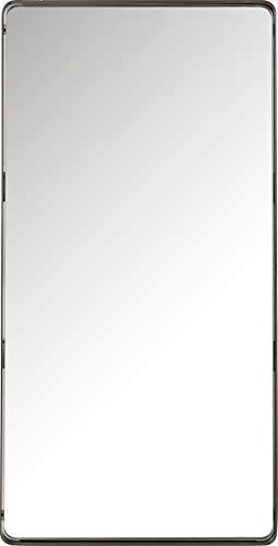 Kare Design Spiegel Ombra Soft, schwarz, moderner Wandspiegel, Edler Badspiegel, großer rechteckiger Schminkspiegel, (H/B/T) 120x60x5cm