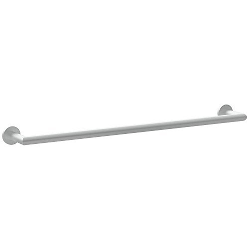 Plain Rosette (Ginger 4603/SN 4603 Kubic 24 Towel Bar with Plain Rosette, Satin Nickel by Ginger)