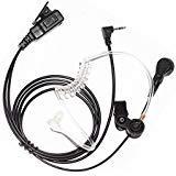 Trido Advanced Nipple Covert Akustikschlauch Bodyguard FBI-Ohrhörer Headset Mikrofon PTT für 1 Pin 2,5 mm Motorola Cobra Talkabout Walkie Talkie 2-Wege-Radio T6200C T5800 T7200 T5720 -