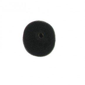 crepon pouf tres grand modele double epaisseur 180mm noir