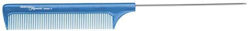 Hercules Sägemann HS C19 carbon 19 Profi Nadel-Stielkamm blau (antistatisch) Carbonkamm gleichmäßige Zahnung, 8,75 Zoll Kamm mit Nadel aus Edelstahl (19b) -