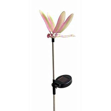 Vier Jahreszeiten Hof, Solar Erdspieß Licht mit Libelle Topper