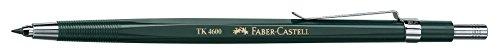 Faber-Castell 134600 - Fallminenstift TK 4600, Minenstärke: 2 mm, inklusive Minenspitzer, Schaftfarbe: grün