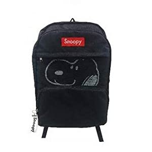 Mochila Dream Snoopy de Air Plants, 3 Bolsillos, Color Negro, 30 x 38 x 16 cm, Importado de Japón K-4367A
