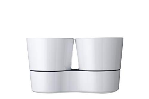 äutertopf Twin, Plastik, Weiß, 13.7 x 22 cm ()
