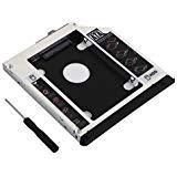 dy-tech 2nd HDD SSD Festplatte Gehäuse Caddy für HP Elitebook 8560W, 8570W 8760W 8770W mit Frontplatte, Blende und Montagebügel