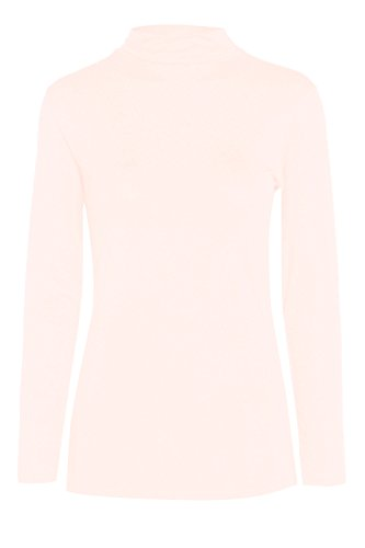 Fashion Valley Womens Plain Long Sleeve Turtle Polo Neck Top Ladies Roll Neck Top Jumper 8-26 UK S/M 8-10 Cream