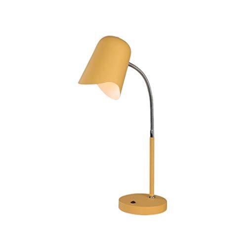 Tischlampe Led schreibtischlampe knopfschalter leselampe tragbare arbeitslampe einstellbare Lampe Pole for büro Schlafzimmer Kinder nachttisch Schreibtischlampe (Color : Yellow)